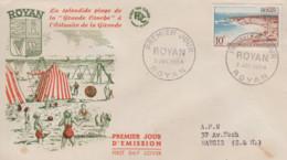Enveloppe  FDC  1er  Jour   FRANCE    ROYAN   1954 - 1950-1959