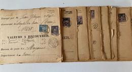 D193-FRANCE Lot D'oblitérations Sur Timbres Sage Des Années 1900, 76 Pièces En Bon état Avec Des Oblitérations Lisibles - Zonder Classificatie