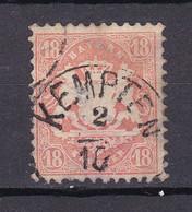 Bayern - 1870 - Michel Nr. 27 K1 KEMPTEN - 18 KREUZER - Gestempelt - 40 Euro - Bavaria