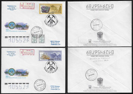 Russia 2000 2 Registered First Day Cover FDC Commemorative Postmark Geology Mineral Cristal - Altri