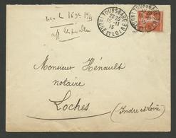 DAGUIN TOURS.GARE / Enveloppe 1915 - Bolli Manuali
