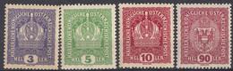 AUSTRIA - 1916/1918 -Lotto Di 4 Valori Nuovi MNH: Yvert 143, 144, 146 E 156, Come Da Immagine. - Nuovi