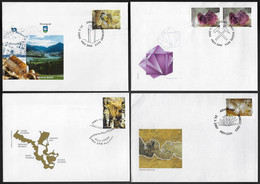 Slovenia 2000 / 2007 4 First Day Cover FDC Geology Mineral Cristal Cave - Altri