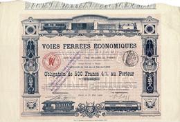 Titre Ancien - Compagnie Française Des Voies Ferrées Economiques - Obligation De 1900 - Déco - - Railway & Tramway