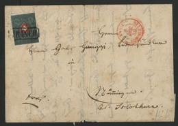 """1850 N° 14 (belles Marges) Obl. """"FRANCO"""" En Noir Sur Lettre + C. à D. Rouge """"Basel Vor Rittag 6/12/50 (Voir Description) - 1843-1852 Federal & Cantonal Stamps"""
