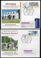 Germany 2009 2 Postal Stationery Geology Mineral Cristal Rüdersdorf - Altri