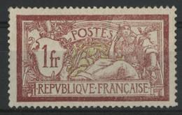 N° 121  1 Fr Type Merson Neuf ** (MNH) (gomme Non Originale GNO) (voir Description) - 1900-27 Merson