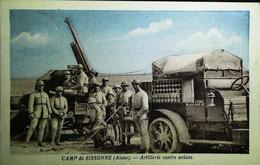 ►  Cpa Guerre (1939-1945) Auto-Canon   Batterie Artillerie Contre Avion - Camp De Sissonne (Aisnes) - Guerra 1939-45