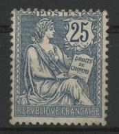 N° 127  25 Ct Bleu Type Mouchon Neuf Sans Charnière (regommé GNO). - 1900-02 Mouchon