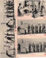 Morvan C.1910 Illustrateur Lot De 5 Cartes Mariage MORVANDIAU / Humour Maire La Mairie Amour Coq - 1900-1949