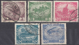 AUSTRIA - 1915 - Serie Completa Di 5 Valori Usati: Yvert 138/142, Come Da Immagine. - Gebraucht