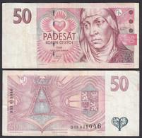 TSCHECHISCHE REPUBLIK - CZECH REPUBLIC 50 Korun 1997 VF (3) Pick 17  (27601 - Tschechien