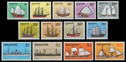 Singapur 1980 - Mi-Nr. 342-354 ** - MNH - Schiffe / Ships - Singapur (1959-...)
