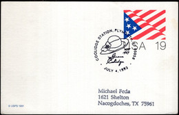 USA - 1991 - Letter - Special Postmark - Coolidge Station - A1RR2 - Covers & Documents