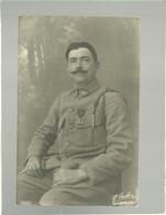 Carte Photo Un Militaire Avec Croix De Guerre 3 Citations 116 Sur Le Col Photo Lauth Luxemburg Mars 1919 ( 116e Vannes?) - Reggimenti
