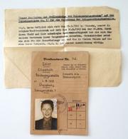 Dienstausweis Service ID Pretty NS Staff Aide 1943 Letter War Merit Medallion Passport WWII - Historical Documents