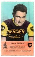 Cyclisme / Carte Postale Du Coureur Cycliste Bernard GAUTHIER. Cycles Mercier, Boyaux Hutchinson, BP. - Ciclismo