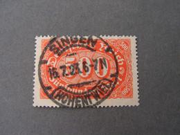 Singen  , 1923 - Used Stamps