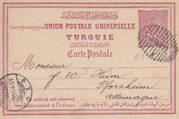 Post Card 1896 Mitilene To Pforzheim/Germany - Unclassified