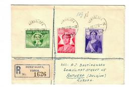 Einschreiben Nuku'Alofa / Tonga Nach Antwerpen 1952 - Tonga (1970-...)