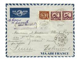 Luftpost Hai-Duon/Tonkin 1939 Nach Delemont/Schweiz - Brieven En Documenten