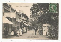 Cp , 63 , CHATEL-GUYON , CHATELGUYON , Les Magasins Dans Le Parc ,commerces , Boutiques , Voyagée 1918 - Châtel-Guyon
