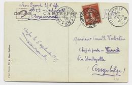 N° 138 TRESOR ET POSTES 9 SPT 15 *35* CARTE MILITAIRE POUR CONGO BELGE - 1906-38 Säerin, Untergrund Glatt