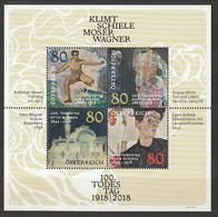 Österreich 2018 Klimt Schiele Moser Wagner Mi Block 101 ** Postfrisch - 2011-2020 Unused Stamps