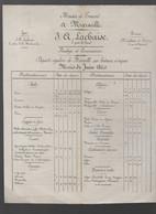 Marseille (13 Bouches Du Rhône) Horaire Des Départs De Bateaux  J A LACHAISE Juin 1860    (PPP30192) - Europe