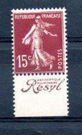 V1-21  Timbre Seul (haut Ou Bas) Issu Du Carnet O. Rolland N° 189-C2 ** Pub  Résyl  Antiseptique à10 % De La Côte. - Standaardgebruik