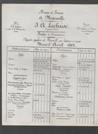 Marseille (13 Bouches Du Rhône) Horaire Des Départs De Bateaux  J A LACHAISE Avril 1862    (PPP30193) - Europe
