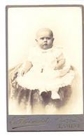 Photo Foto Hard Karton - Baby , Fotograaf Em. Vandewinckel , Tamise Temse - Old (before 1900)