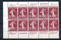 V1-21  Le 1/2 Carnet Laboratoires O. Rolland N° 189-C2 Oblitéré Pub  Résyl/Asceine à 10 % De La Côte. - Usados Corriente