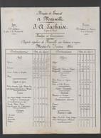 Marseille (13 Bouches Du Rhône) Horaire Des Départs De Bateaux  J A LACHAISE Juin 1861 (PPP30195) - Europe