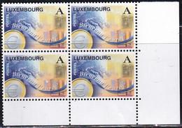 L-Luxemburg 1998 - Einführung Des Euro 4-Block (B.2837.1) - Ongebruikt