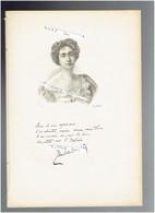 JANE DE LA VAUDERE 1857 1908 PARIS POETESSE ECRIVAIN PORTRAIT AUTOGRAPHE BIOGRAPHIE ALBUM MARIANI - Historische Documenten