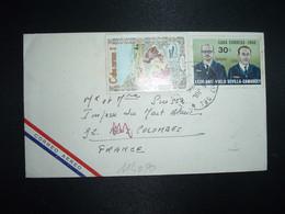 LETTRE Par Avion Pour La FRANCE TP BARBERAN COLLAR 30c + HOMO HABILIS 1 OBL.6 JUL 1968 CRUZ DEL N... - Covers & Documents