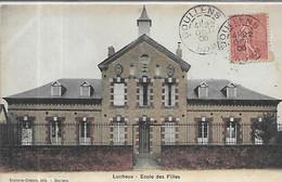 80,Somme, LUCHEUX 615 Habitants, Ecole Des Filles, Colorisée,  Scan Recto-Verso - Lucheux