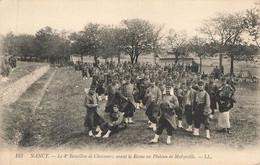 NANCY : LE 4° BATAILLON DE CHASSEURS AVANT LA REVUE AU PLATEAU DE MALZEVILLE - Nancy