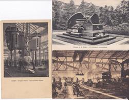 DC4667 - Ak Essen A. D. Ruhr Industrialisierung 3 Karten Lot Fabrikhallen  F.A. Krupp Grabmal Arbeiter - Essen