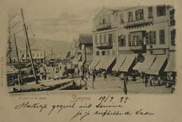 Smyrne (Turkey) Le Port Et Les Quais ((not Standard) 1899 Light Fold - Turquie