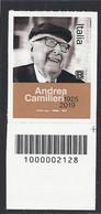 Italia / Italien 2021 Andrea Camilleri Con Codice A Barre / Mit Strichkode - Codici A Barre