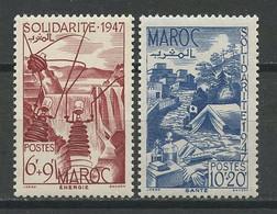 MAROC 1948 N° 266/267 ** Neufs MNH Superbes C 5.75 € Energie Santé Médecine Croix Rouge Oeuvres Solidarité - Nuevos