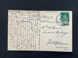 POSTKAART OBP 110 5c - Relais OISQUERQ - 1912 Pellens