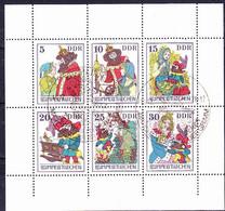 DDR GDR RDA - Rumpelstilzchen (MiNr: 2187/92 Unten Ndgz) 1976 - Gest Used Obl   *** - Bloques