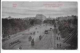 Riga - Alexander Boulevard - Tram. - Letonia