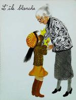 ►  Image Albums Du Père Castor  L'ile Blanche    Grand -mère Petite Fille   Moufles  Lunettes Optique - Other