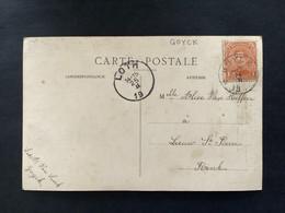 POSTKAART Uitgifte Albert I - 1c - Gestempeld RELAIS GOYCK - 1915-1920 Albert I