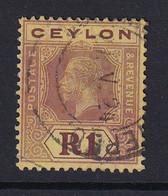 Ceylon: 1921/32   KGV   SG354   1R   [Die I]  Used - Ceilán (...-1947)