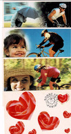 3 Cartes Postales Illustrant La Pratique Du Vélo + Carte 3218CP1 - Standard Postcards & Stamped On Demand (before 1995)